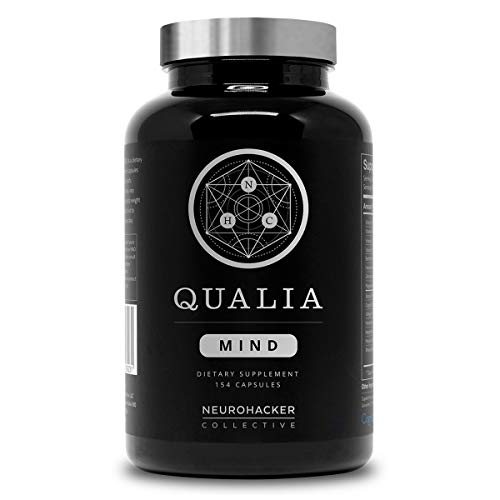 Qualia Mind Nootropic | Premium Brain Booster Supplement for Memory, Focus, Mental Clarity and Concentration Support with Bacopa monnieri, Ginkgo biloba, Celastrus, DHA, Alpha GPC & More. (154 Ct)