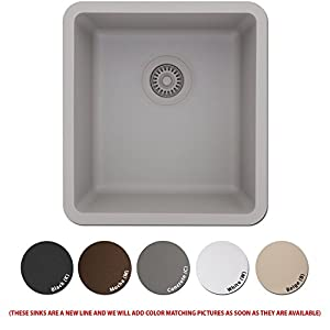 Merveilleux Lexicon Platinum Quartz Composite Kitchen Sink   Small Single Bowl (LP 1618  White)