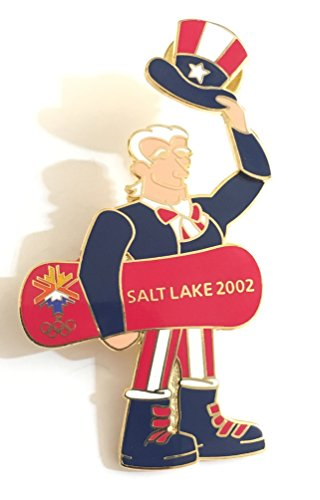 (Patriotic American Uncle Sam Snowboard Fourth Of July Salt Lake City Holiday Winter Olympics Hinged Motion Pin LE 234/2002)