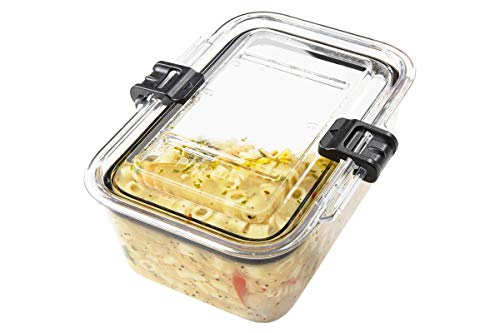 Prepara Latchlok 3 Cup Tritan Food Storage Container, Set of 2, Clear