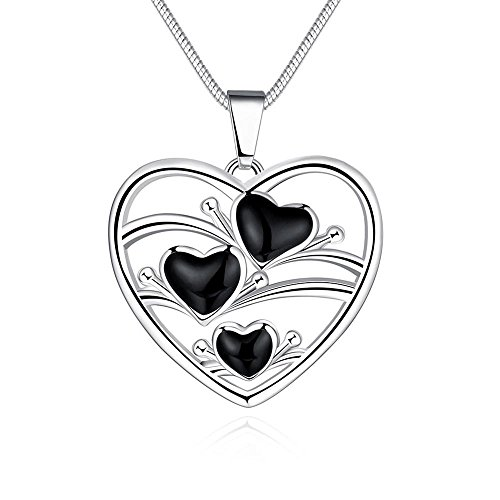 Hambone Costume (Black Oil Drip Heart Pendant Necklace)