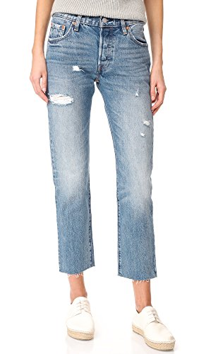 Levis 501 Denim Blue Jeans - 6