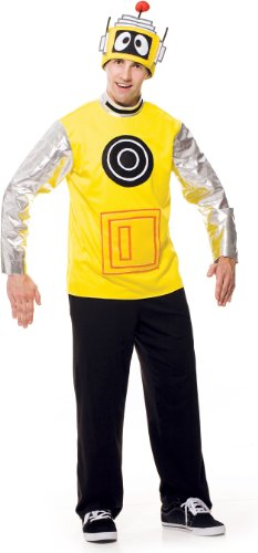 Yo Gabba Gabba Plex Costumes (Paper Magic Yo Gabba Gabba Plex Deluxe Costume, Yellow/Black, Large)