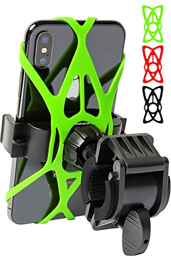 Bike Phone Mount for Any Smart Phone: iPhone X 8 7 6 5 Plus Samsung Galaxy S9 S8 S7 S7 S6 S5 S4 Edge, Nexus, Nokia, LG. Motorcycle, Bicycle Phone Mount. Mountain Bike Mount. Bike Accessories. (Best Iphone 6 Mount For Bike)