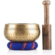 Ohm Store Tibetan Singing Bowl Set - Helpful for Meditation, Yoga, Relaxation, Chakra Healing & Stress Relief