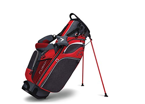 Callaway Golf Fusion 14 Stand Bag Stand / Carry Golf Bag 2017 Fusion 14-Way Divider Top Titanium/Red/White