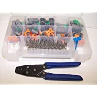 DEUTSCH, DT SERIS OEM GRAY CONNECTORS WITH STAMPED, OPEN U BARREL TERMINALS, PIC TOOL & PC CRIMPER, 238 PIECE SET For Harley, Cat, and More. Order by 3PM EST shipped that day