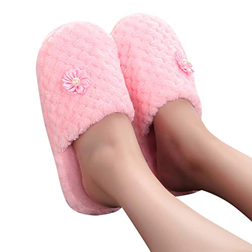 Autunno Rosa ASHOP Donna Sneakers Scarpe Infradito Donne Anti Scarpe Tacco Scivolo Le Invernale inverno e Scarpe Pantofole Casa Solide Chiuso Al Calde Donna fqUUB