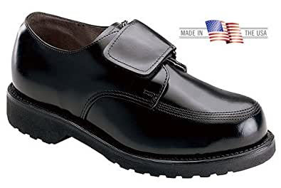 Men's Thorogood Classic Leather Strap Shoes, BLACK, 8.5EE