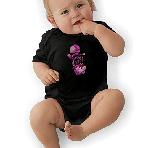Baby Boy Bodysuit, Alice in Wonderland Cheshire CAT Best Baby Bodysuit Baby Clothes Black -
