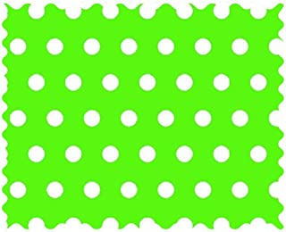 product image for SheetWorld 100% Cotton Percale Fabric by The Yard, Polka Dots Lime, 36 x 44