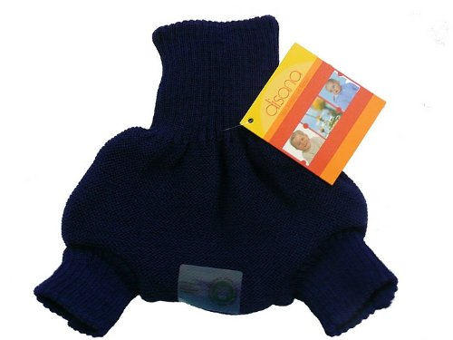 Disana Organic Merino Wool Cover-Navy-74/80 (6-12 mo) ()