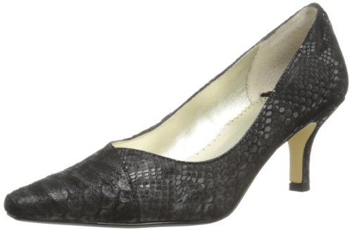 (Bella Vita Women's Wow Pump,Black/Silver Snake Leather,12 W US)