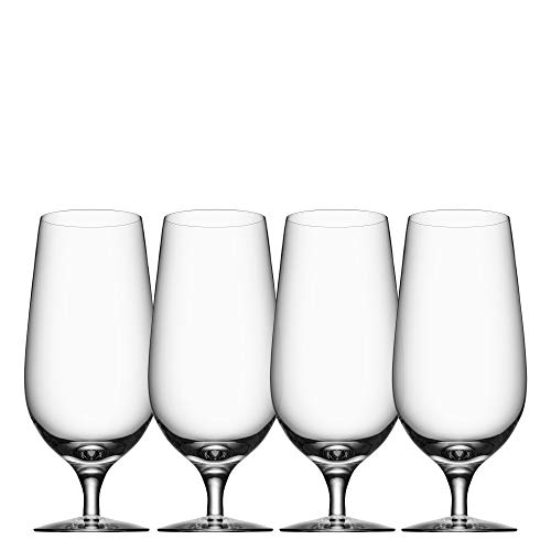 Orrefors Beer Lager 20.3 Ounce Glass, Set of 4 - Lager Beer Glass
