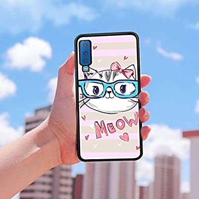 Glossy Black TPU Case Samsung Galaxy A7 2018#SF2qd