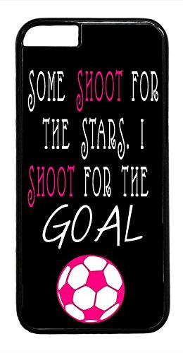 Soccer Girl Pink Futbol Ball Quote Hard Plastic Black Case Cover for iPhone 6 4.7