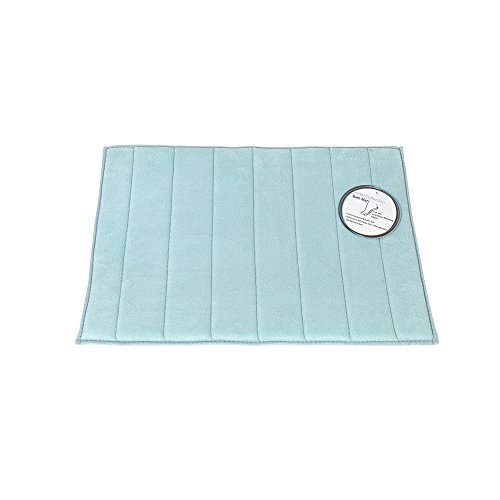 Park Avenue Deluxe Collection Park Avenue Deluxe Collection Large-Sized, Memory Foam Bath Mat in Spa Blue