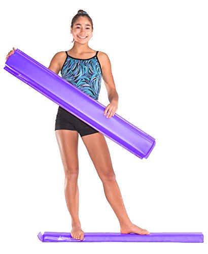 JuperbSky Gymnastics 4 Feet PVC Sectional Floor Foam Practice Balance Beam for kids, Purple
