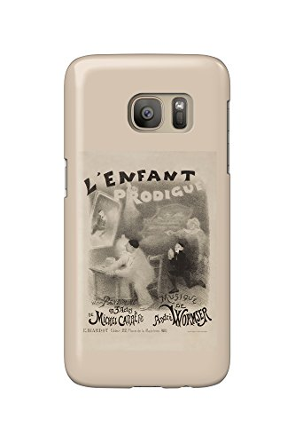 L'Enfant Prodigue Vintage Poster (artist: Willette) France c. 1890 (Galaxy S7 Cell Phone Case, Slim Barely There)