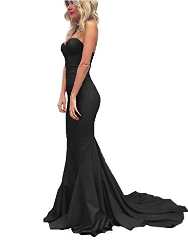 long black fitted dress - 5