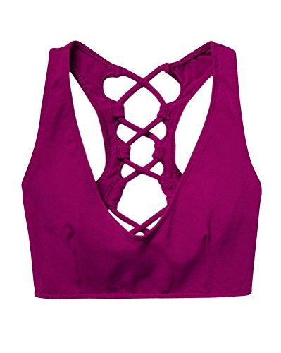 Sujetador Deportivo Alto Impacto Yoga Chalecos Sin Aros Ropa Fitness Para Mujer Rose