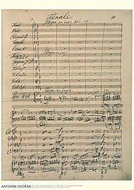 Antonin Dvorak Music Manuscript Poster Piano Concerto in G Minor, Op. 33 Finale (Allegro Con Fuoco) -
