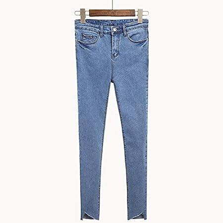 Amazon.com: TreeMart Women Slim Vintage Denim Asymmetric ...