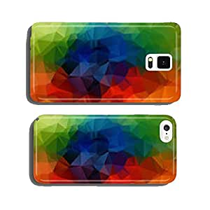 Abstract 2D geometric colorful background cell phone cover case Samsung S6