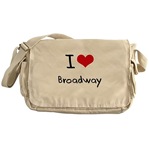 CafePress - I Love BROADWAY - Unique Messenger Bag, Canvas Courier - Canvas Broadway Messenger