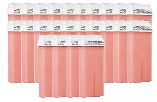 24Cartuchos de cera de depilación color ROSA para depilación con bandas Purenail