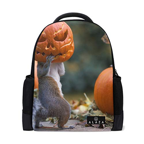 Backpack Halloween Fun Autumn Squirrels Fal Mens Laptop Backpacks Shoulder Hiking Daypack -