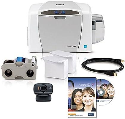 Amazon.com: Fargo C50 Impresora de tarjetas ID w/Suministros ...