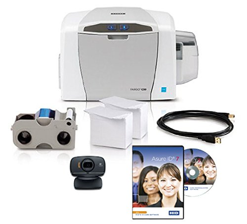Fargo C50 ID Card Printer Package w/ Supplies - 51701