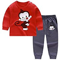 Hibobi Cotton Tops+Pants Set for Baby Boys girls Cat Print Outfits Handsome Kids Yellow Stripe