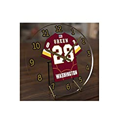 FanPlastic Darrell Green 28 Washington Redskins Desktop Clock - National Football League Legends Edition !!