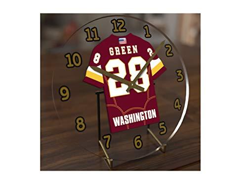 FanPlastic Darrell Green 28 Washington Redskins Desktop Clock - National Football League Legends Edition !!