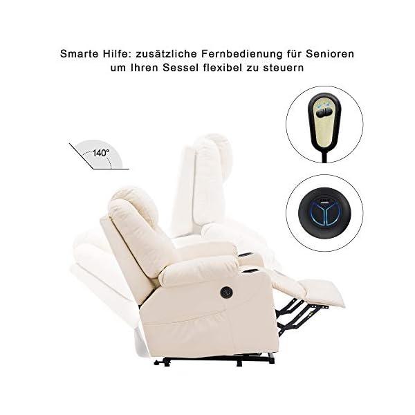 MCombo Electric Fauteuil d'aide au Repos Fauteuil de Massage Chauffant à réglage électrique Connexion USB