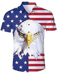 9935f7f65 Hawaiian Shirt Men Tropical Button Down Dress Summer Blouse