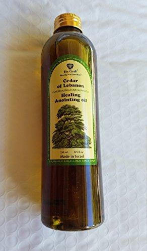 Lebanon Anointing Oil - Ein Gedi Biblical Essential Anointing Oil 250ml From Holy Land Jerusalem by Bethlehem Gifts TM (Cedar of Lebanon Healing)