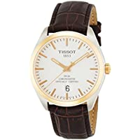 Tissot Silver Dial Brown Leather Men's Watch