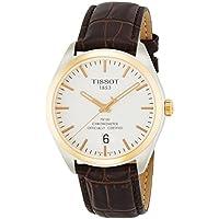 Tissot Silver Dial Brown Leather Men's Watch (PR100)