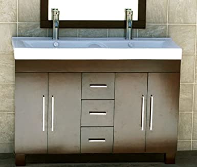 Beautiful Kitchen Bath And Beyond Tampa Small Cleaning Bathroom With Bleach And Water Regular Bathroom Faucets Lowes Bathroom Vanities Toronto Canada Old Bathroom Expo Nj DarkTiled Bathroom Shower Photos 48\u0026quot; Bathroom Vanity Ceramic Lavatory Top Integrated Sink CM1 ..