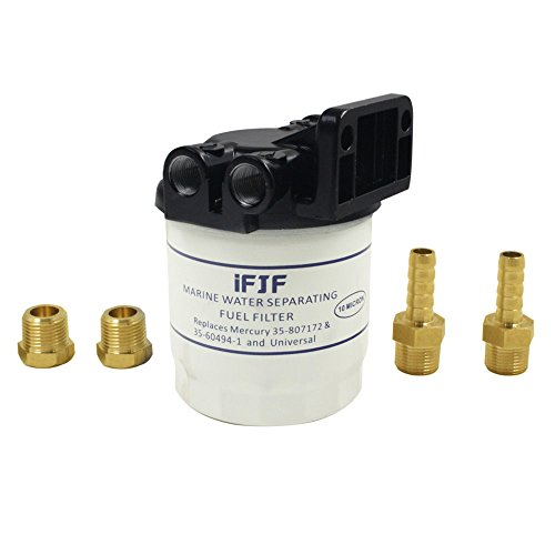 iFJF Marine Fuel Water Separator Kit 10 Micron 18-7983-1 Filters for Replacing Mercury-35-807172, 35-60494-1,1-18-7944,1-18-7853-1(Includes four ()
