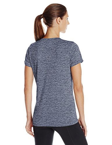 Under Armour Women's Tech Twist V-Neck, Academy (408)/Metallic Silver, X-Small by Under Armour (Image #2)
