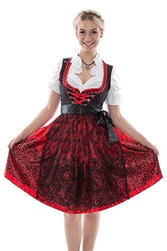 Dirndl Trachtenkleid Oktoberfest Abendkleid Weinrot Traditionelles Blau Damen Meloo Türkis Partykleid Spitzenkleid Kleid Weinrot Trachten Rosa dtEqnZ