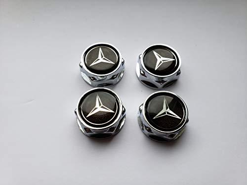 RPOEnterprise Mercedes Benz License Plate Screws Lug Nuts Plate Holders Set of 4 License Plate lugs