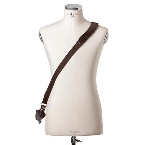 Full Beard Single Cross Strap (Dark Brown Leather)   B01DJX01TE