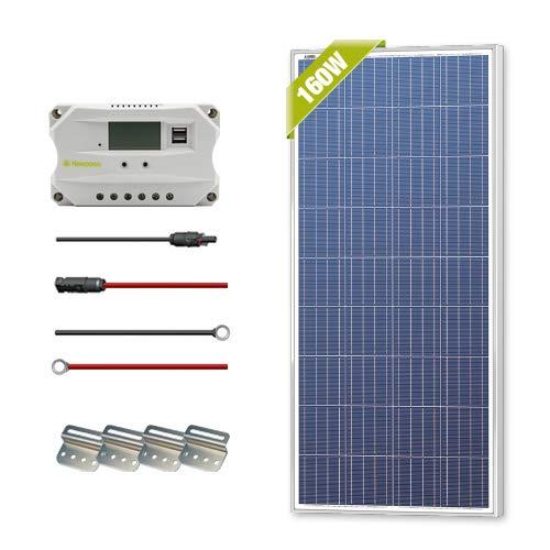 Newpowa 160 Watts 12 Volts Polycrystalline/175 Watts 12 Volts Monocrystalline Solar Panel kit(160W/175W) (160W) by Newpowa (Image #6)