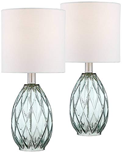 Rita Blue-Green Glass Accent Table Lamp Set of 2-360 Lighting ()