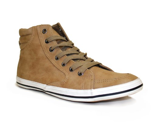 Arider AR5011 Mens Fashion High Top Sneakers - KHAKI, Size 11